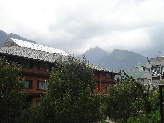 Back side of Hotel