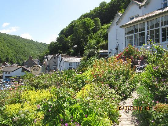 Lynmouth, UK : View of the valley and Bonnicott
