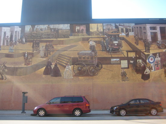 Toronto Urban Adventures: A really cool wall which shows the historic events