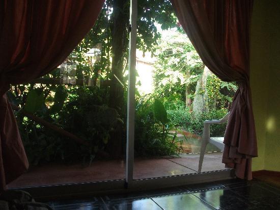 Chez Erika: vista jardin
