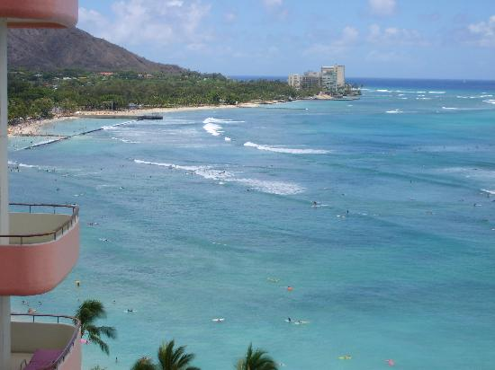 The Royal Hawaiian, a Luxury Collection Resort: view from our balcony towards Diamond Head