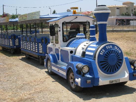 Atlantica Aegean Blue: little train to shops
