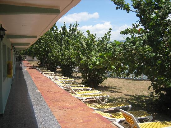 Villa Islazul Yaguanabo: Blick vom ebenerdigen Zimmer
