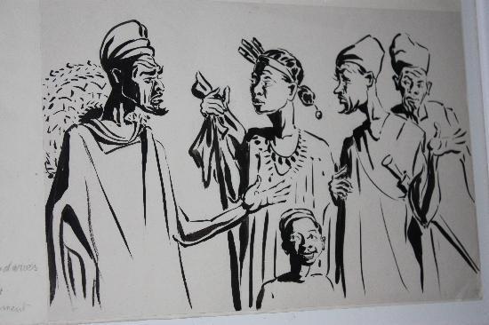 Quinta do Barranco da Estrada: As turtulias na quinta estão espelhadas nesta pintura que se encontra num dos quartos