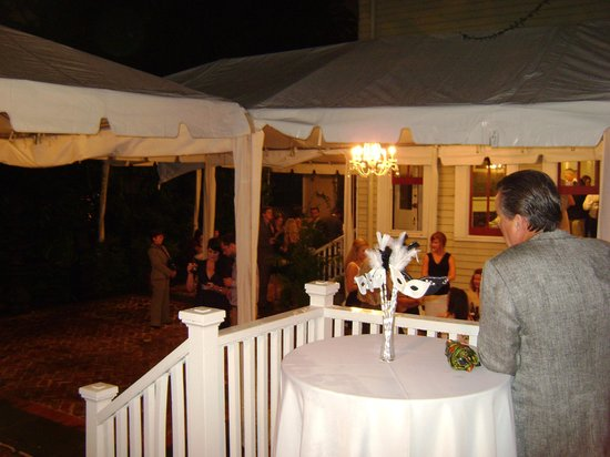 Degas House: Wedding Reception - Courtyard with Tenting