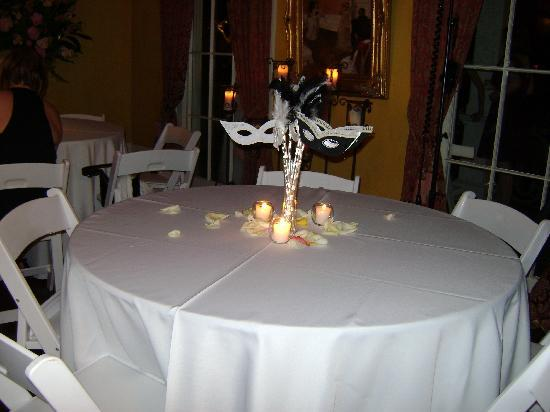 Degas House: Wedding Reception Table Decorations
