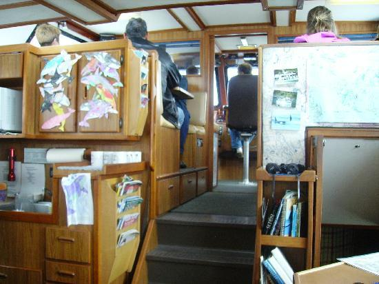Port Townsend, WA: Looking toward the front of the boat and galley