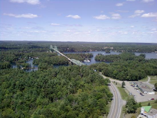 1000 Islands Tower : View towards Canada