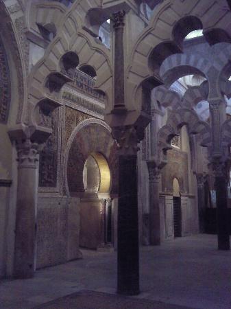 Moschee-Kathedrale (Mezquita de Córdoba): vue d'ensemble du mihrab