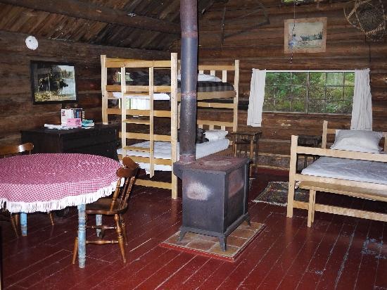 Little Lyford Lodge and Cabins: Interior of Trapper's Cabin (sleeps five)