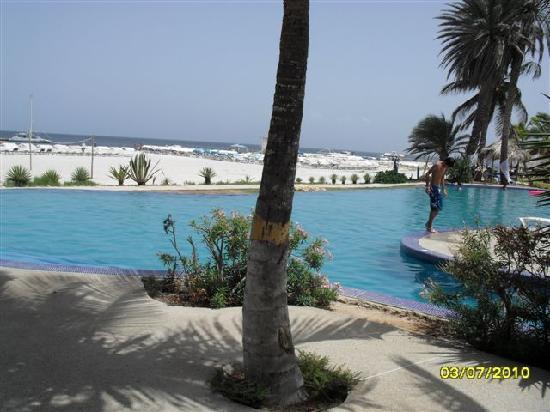 Coche Paradise Hotel Isla Margarita: Piscina/Playa Isla del Coche