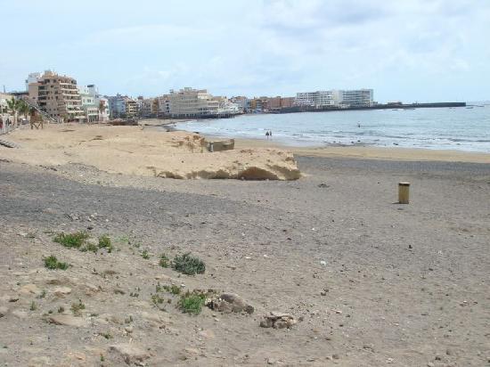 El Medano Hotel: Strand des Ortes El Médano