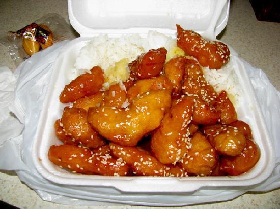 Green Tea Chinese Restaurant: Bourbon Chicken?