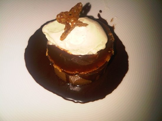 BLT Steak: $12 Peanut Butter Mousse with Banana Ice cream