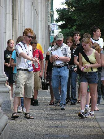 The Constitutional Walking Tour of Philadelphia: A group taking The Constitutional Walking Tour
