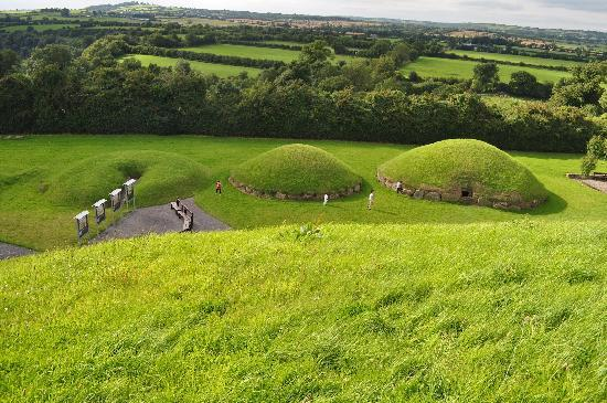 Drogheda, Ireland: From atop Knowth tomb