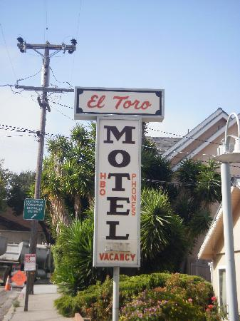 El Toro Motel: Motel Sign