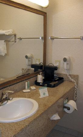Comfort Inn: Roomy, well-lit bathroom.