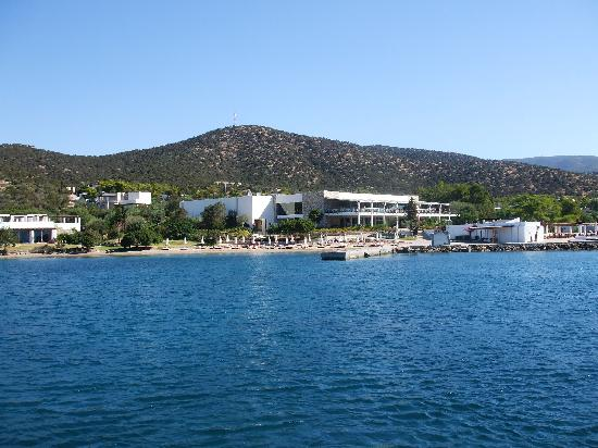 Thermisia, Greece: the village from the sea