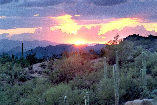 Phoenix, AZ: Sunset over the Sonoran Desert