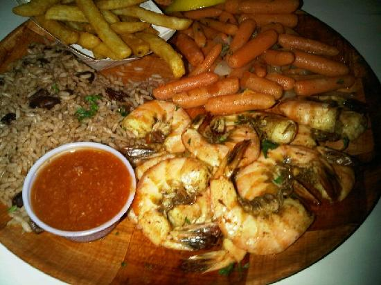 Fll rustic inn old bay shrimp plate picture of rustic for Rustic hotels near me