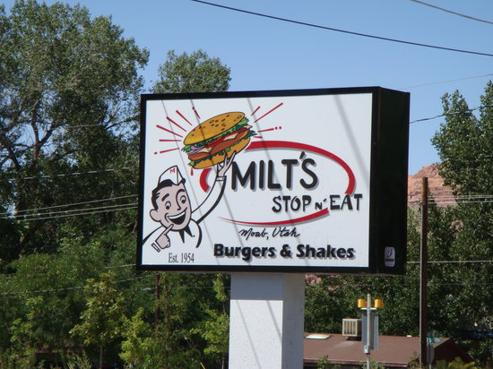Milt's Stop & Eat: Milt's Sign