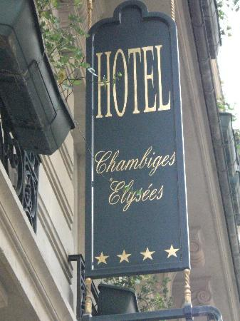 Chambiges Elysees Hotel: Hotel Chambiges Elysses