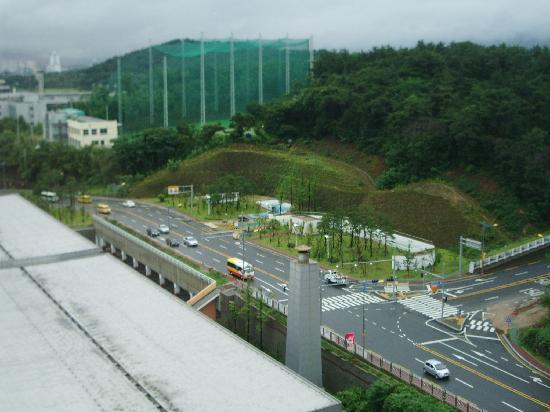 Pullman Ambassador Changwon City 7: vue de l'hotel coté foret