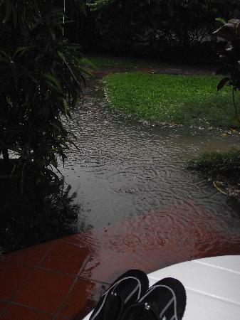 East Winds: It rained very hard one morning, but was end of July beginning of the rainy season
