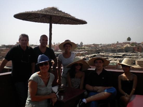 Riad Dar Alfarah: terrasse du café des épices