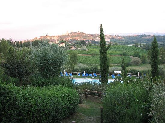 Villa Ducci: Blick von Terrasse