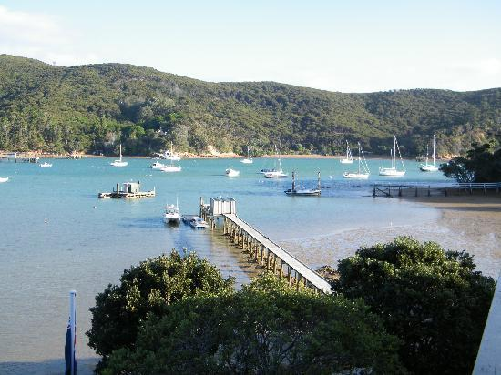 Kawau Island, Nya Zeeland: view from balcony
