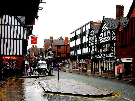 Chester, UK: tipicas calles