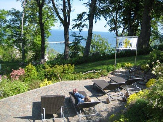 Inselhotel Rügen: kl. Sonnenterrasse