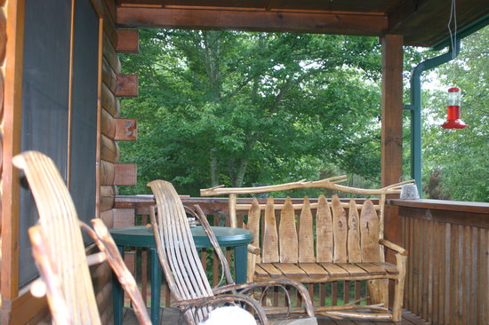Standing Indian Campground: Bate Cabin Cowee Porch