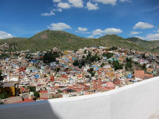 Casa Zuniga B&B: view of Guanajuato from many terraces at Casa Zuniga