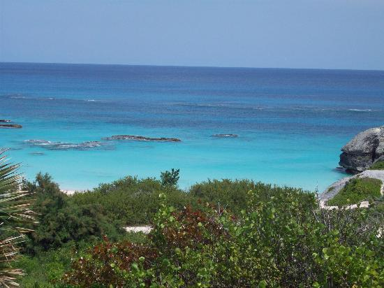 Horseshoe Bay Beach: View from Scooter Bermuda