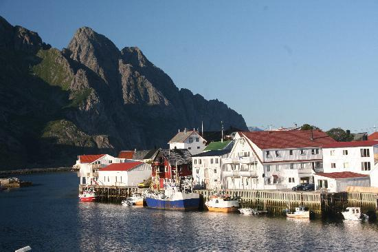 Henningsvaer, Norway: view from the dining table