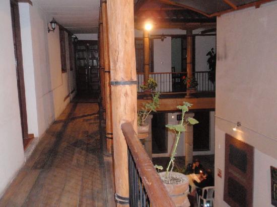 Hostal La Ronda: the bedrooms around the patio