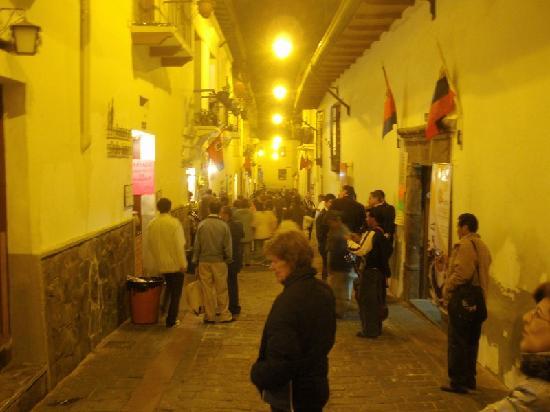 Hostal La Ronda: the street below