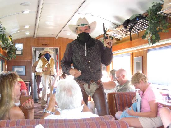 Grand Canyon Railway: Robbers Attacking First Class