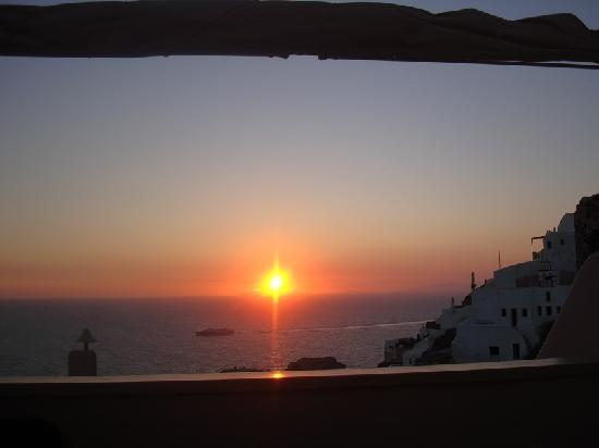 Art Maisons Luxury Santorini Hotels Aspaki & Oia Castle: The Sunset From Our Private Balcony