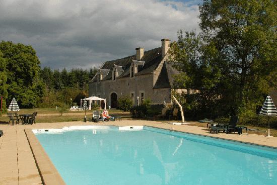 Le Vieux Chateau d'Hommes: la piscine