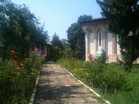 Snagov, Rumunia: The path from the dock to the monastery