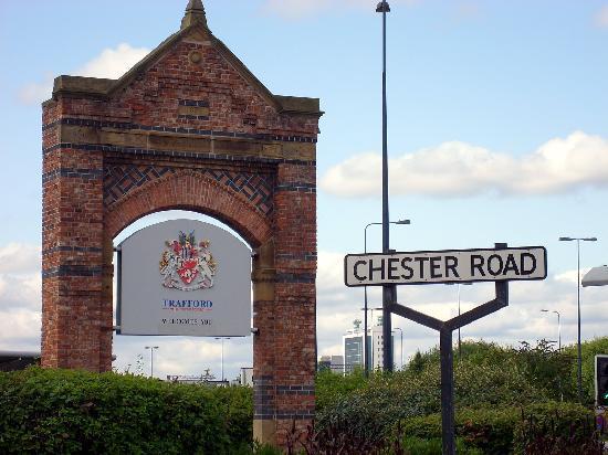 Manchester, UK : Llegando al estadio de Old tratford