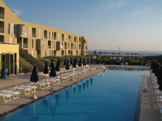 Petrcane, Croatia: Hotel von Terasse Speisesaal
