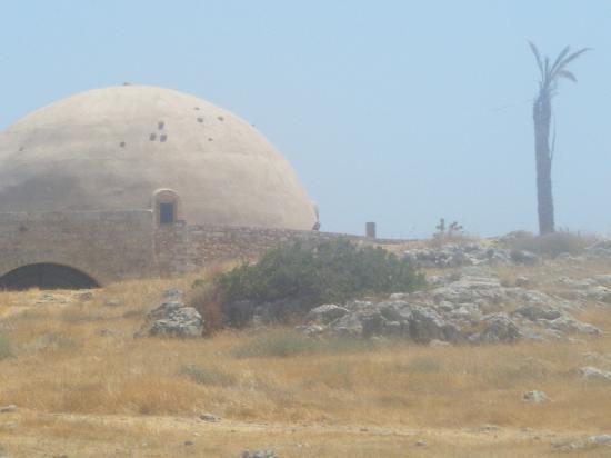Creta, Grécia: moschea nella fortezza di rethimnon