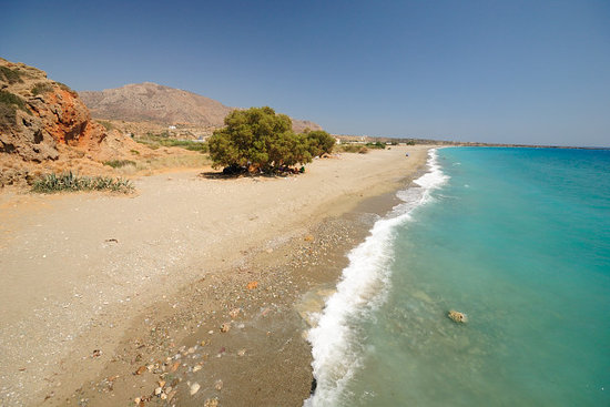 Makry-Gialos, Greece: Lagada beach during peak season, August 14, 3p.m.
