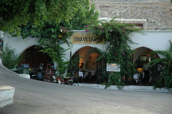 Photo of Seafood Restaurant Mavrikos at Main Square, Lindos 851 07, Greece