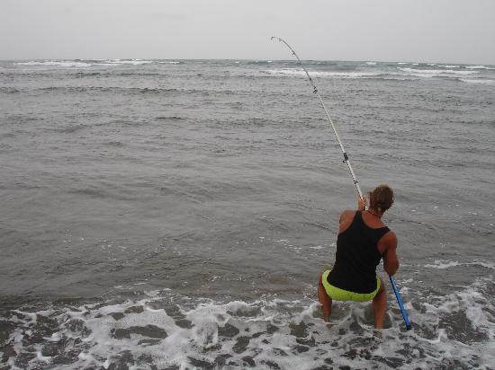 Boa Vista, Kap Verdeöarna: pesca allo squalo:preso!!!